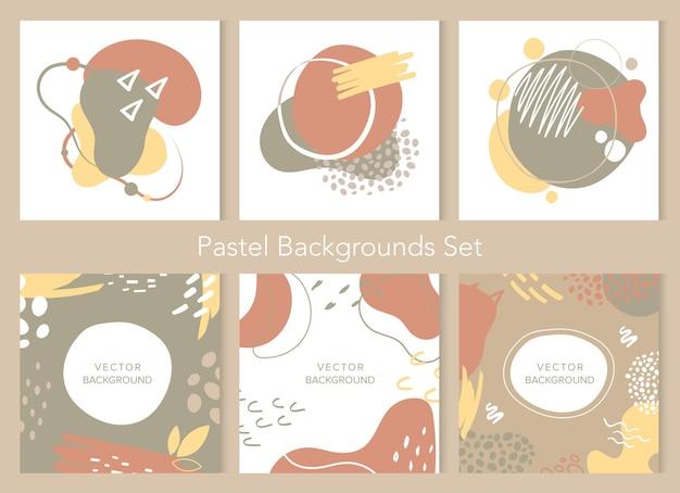 Conjunto de texturas de formas geométricas abstratas. coleção de decoração de arte de geometria da moda