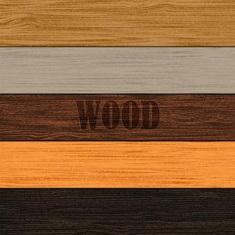 Conjunto de texturas de madeira