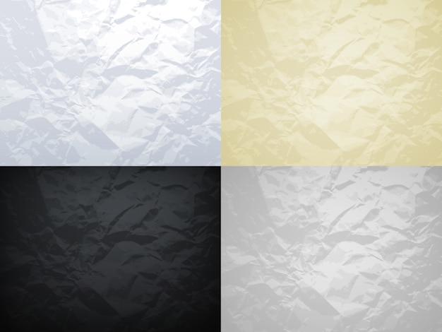 Conjunto de texturas de papel amassado