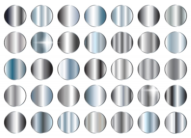 Conjunto de texturas de prata