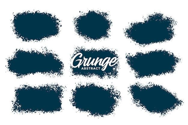 Conjunto de texturas grunge de respingos abstratos