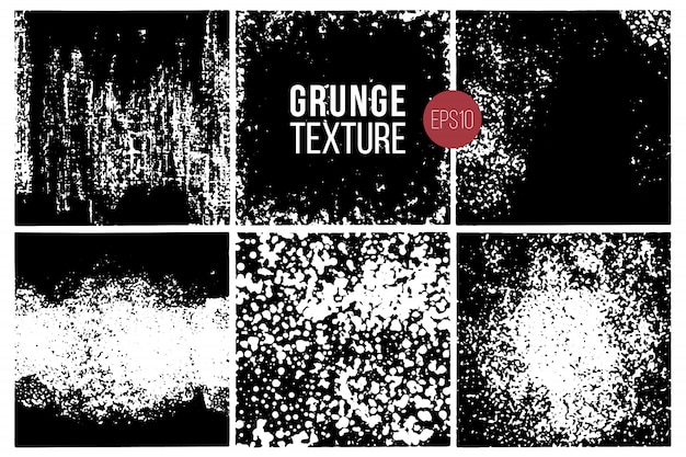 Conjunto de texturas grunge. fundos