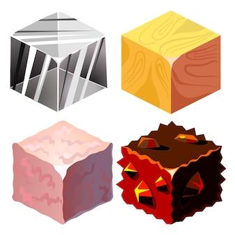 Conjunto de texturas para plataformas