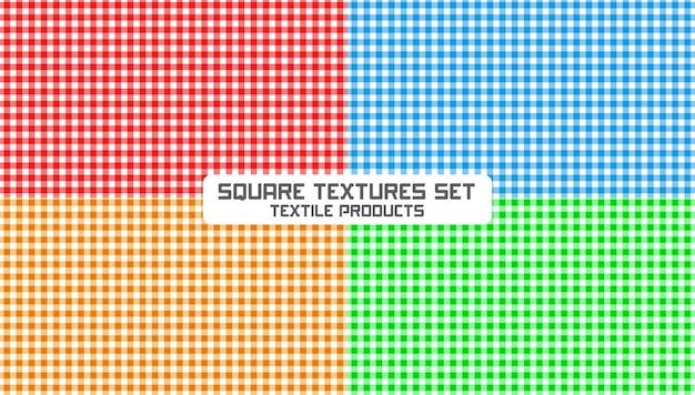 Conjunto de texturas quadradas