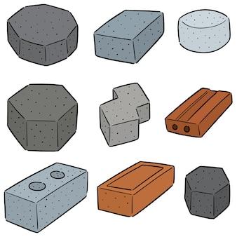 Conjunto de tijolos