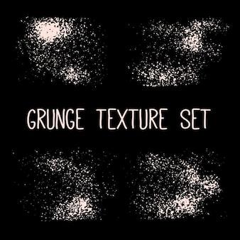 Conjunto de tinta preta, pinceladas de tinta. elementos de design artístico sujo, caixas, quadros, planos de fundo, texturas. vetor