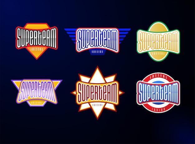 Conjunto de tipografia de emblema de esporte