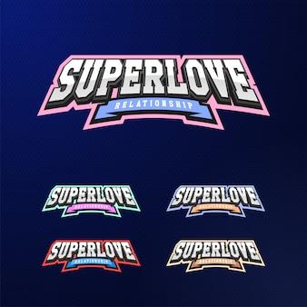 Conjunto de tipografia de emblema do esporte.