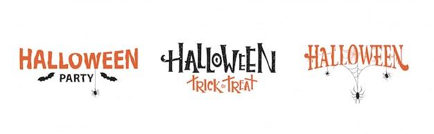 Conjunto de tipografia de halloween