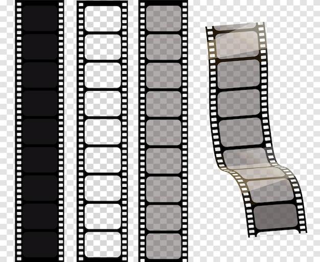 Conjunto de tiras de filme vetorial ilustração vetorial de eps