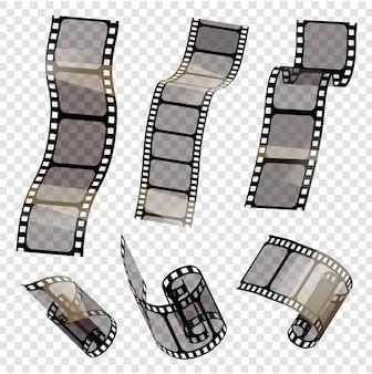 Conjunto de tiras de filme vetorial ilustração vetorial de estilo epsstampunk