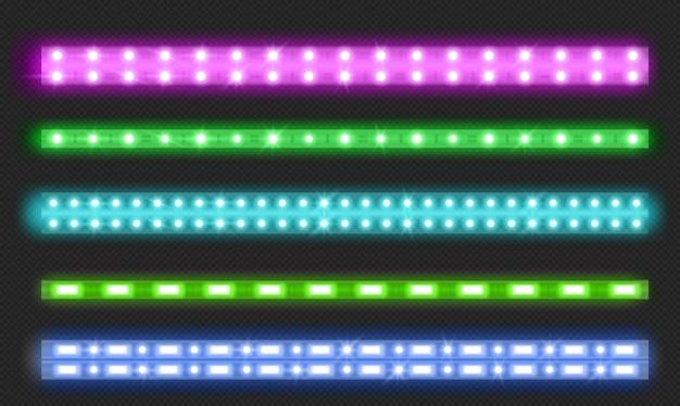 Conjunto de tiras de led de linha dupla