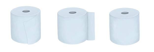 Conjunto de toalhas de papel isoladas em branco