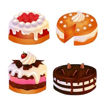Conjunto de torta de bolo