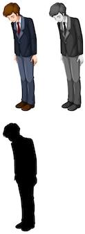 Conjunto de trabalhador de escritório masculino