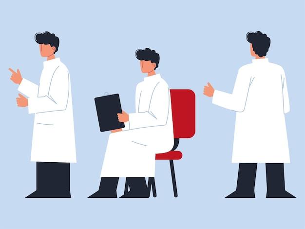 Conjunto de trabalho médico médico profissional