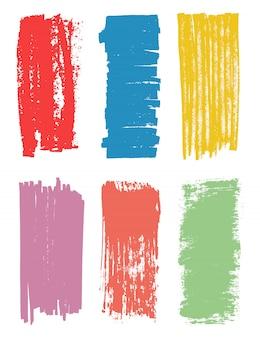 Conjunto de traçado de pincel colorido