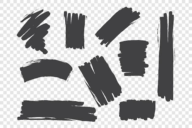Conjunto de traçados de pincel caótico