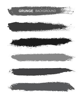 Conjunto de traçados de pincel grunge.