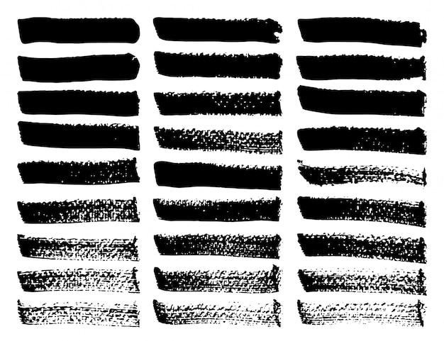 Conjunto de traçados de pincel.