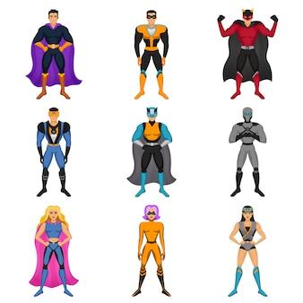 Conjunto de trajes de super-herói