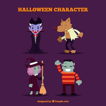 Conjunto de trajes divertidos de halloween