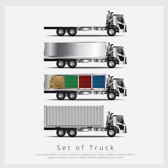Conjunto de transporte de caminhões de carga