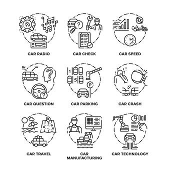 Conjunto de transporte de carro