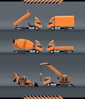 Conjunto de transporte de construção