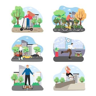 Conjunto de transporte eco city
