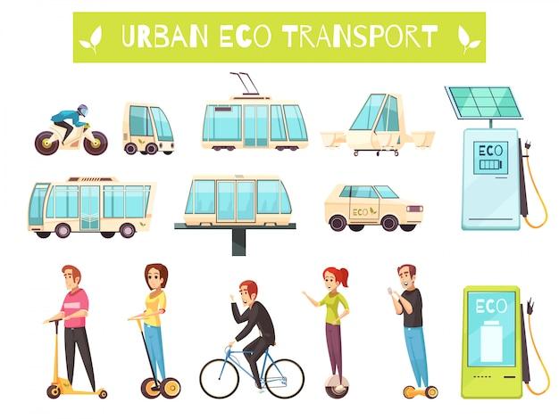 Conjunto de transporte ecológico