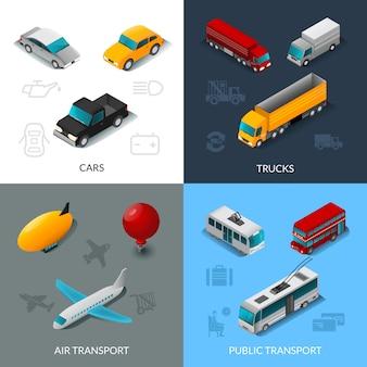 Conjunto de transporte isométrico