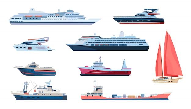 Conjunto de transporte marítimo e marítimo