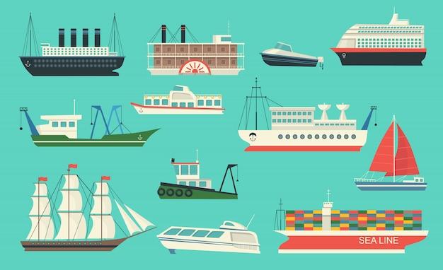 Conjunto de transporte marítimo