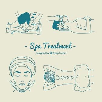 Conjunto de tratamento de spa