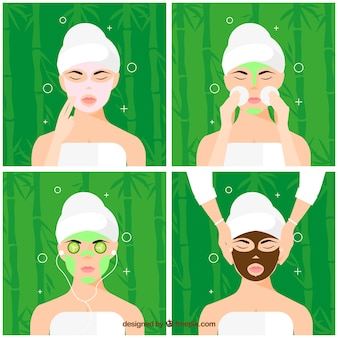 Conjunto de tratamentos faciais