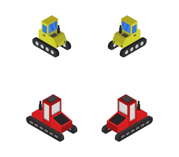 Conjunto de tratores isométricos
