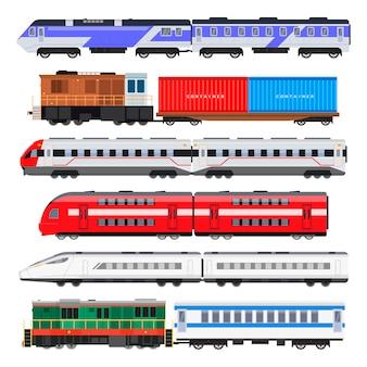 Conjunto de trem de passageiros