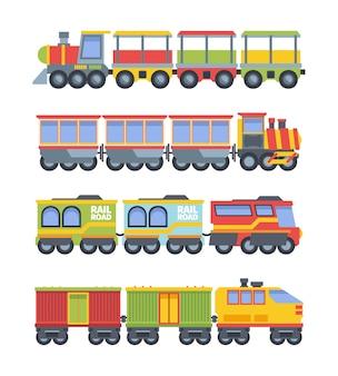 Conjunto de trens de brinquedo