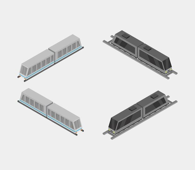 Conjunto de trens isométricos