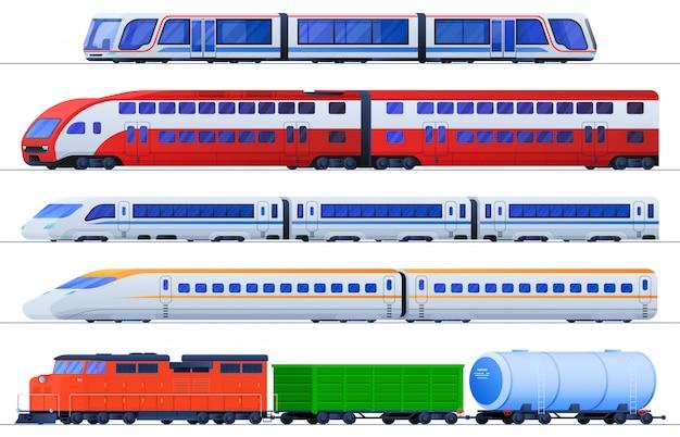 Conjunto de trens planos