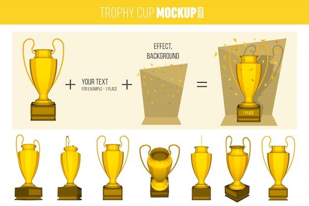 Conjunto de troféus