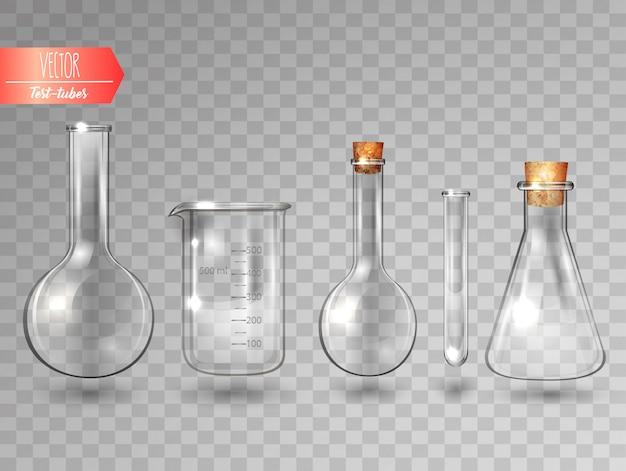 Conjunto de tubos de ensaio.
