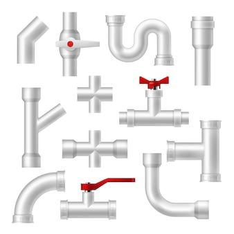 Conjunto de tubos e acessórios de canalização
