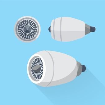 Conjunto de turbina de unidade de motor de aeronave.