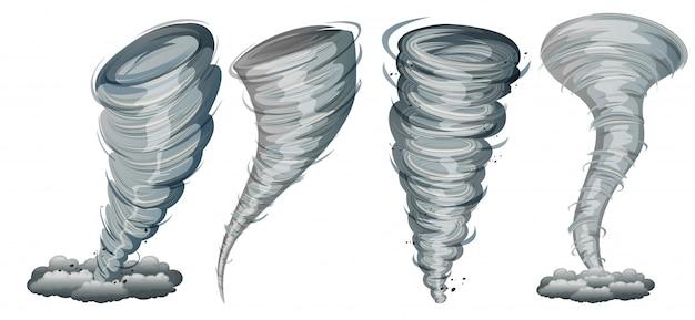 Conjunto de twister no fundo branco