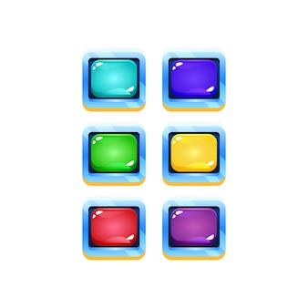 Conjunto de ui colorido jogo de geléia