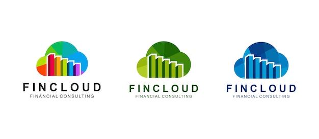 Conjunto de um logotipo imobiliário