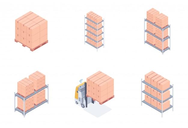 Conjunto de unidades de armazém.