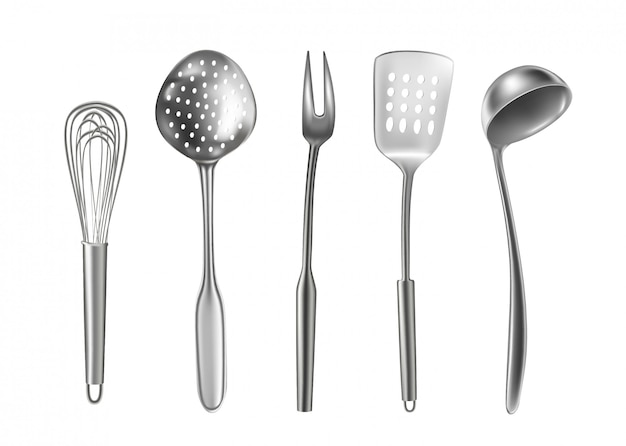 Conjunto de utensílios de cozinha